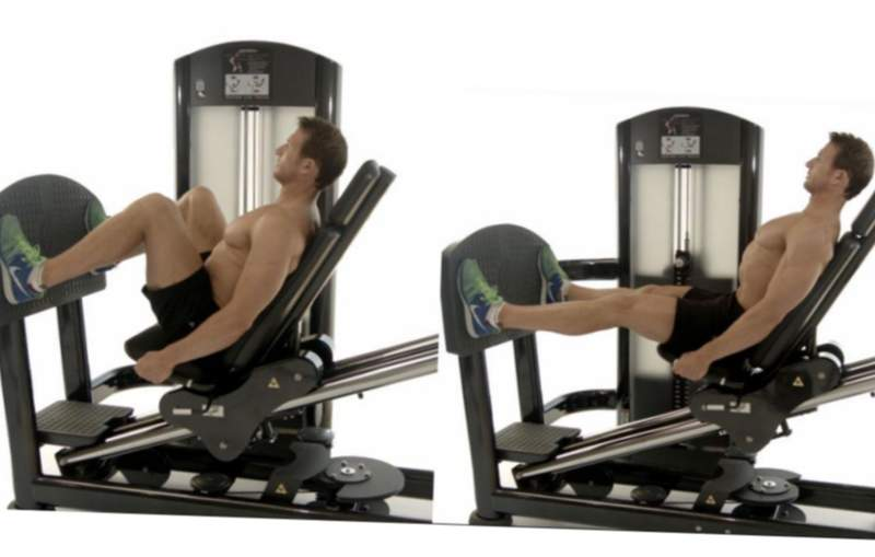 come fare leg press