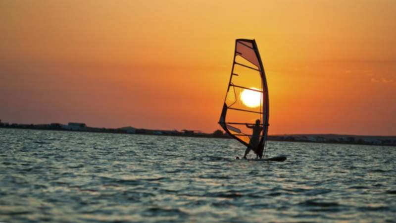 entrenament en windsurf