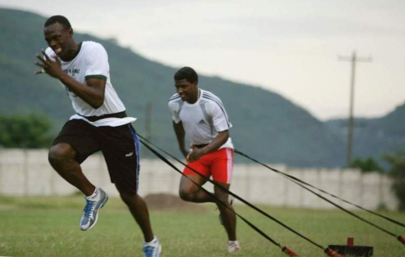 usain training