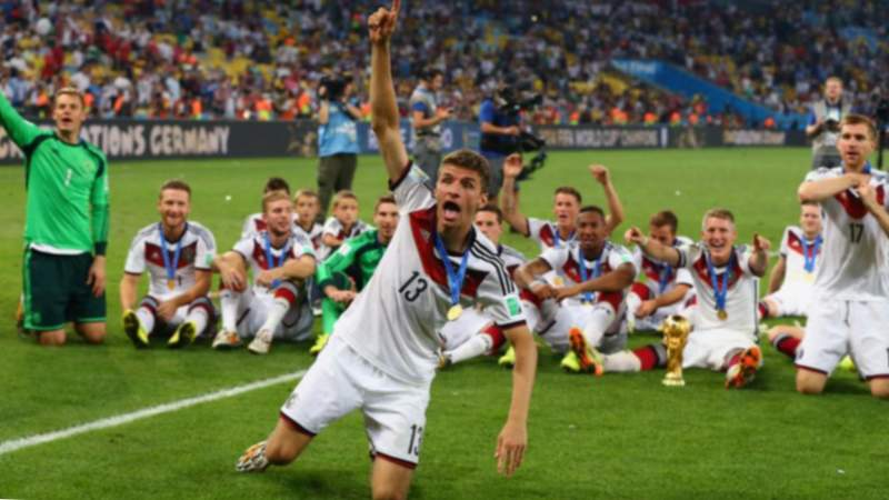 Thomas Muller nos Campionatos do Mundo