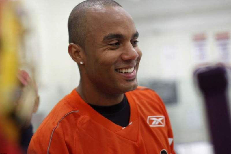 Ray Emery sonríe