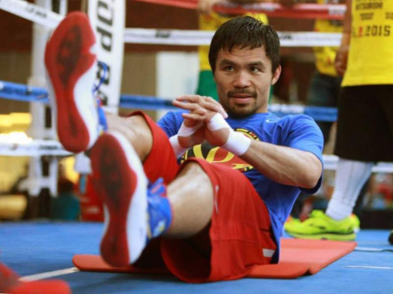 entrenament manny Pacquiao